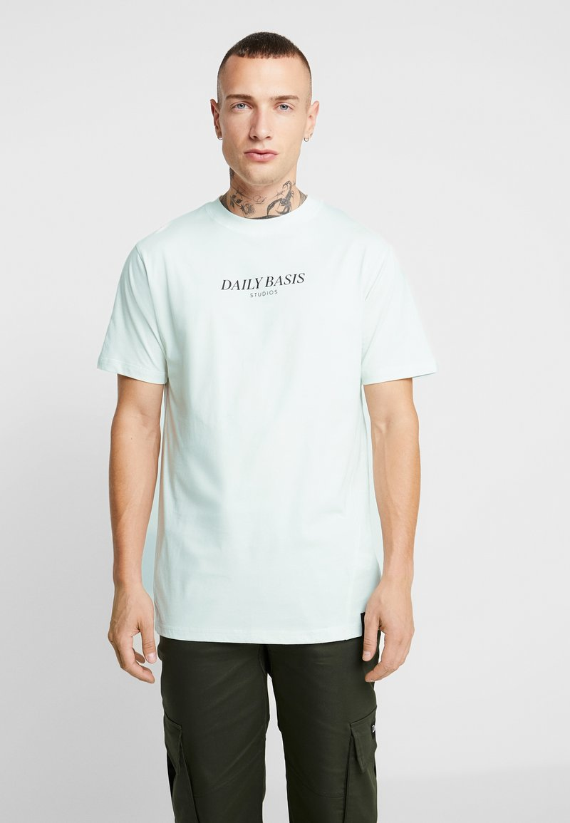 Daily Basis Studios - BASIC LOGO TEE - T-shirt basic - mint