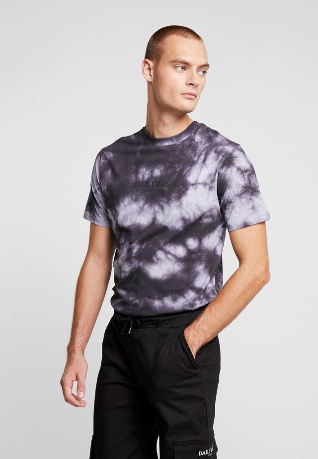 TIE DYE TEE - T-shirts print - black