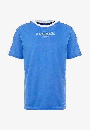TAPED TEE - Print T-shirt - royal blue