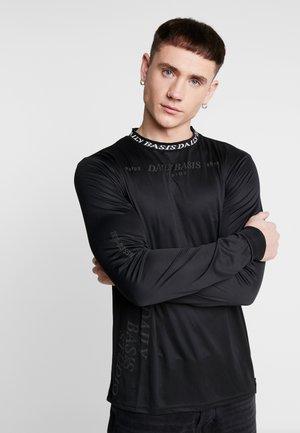 INJECTION TEE - Bluzka z długim rękawem - black