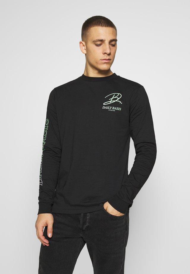 SCRIPT TEE - Langærmede T-shirts - black