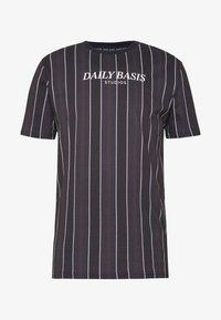 Daily Basis Studios - HOUNDSTOOTH STRIPE TEE - T-shirt print - black - 3