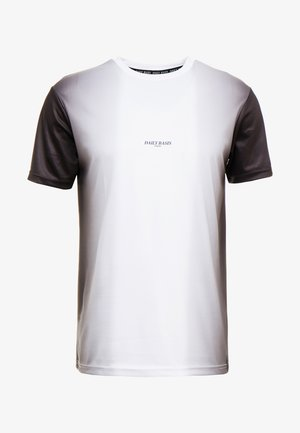 MIDDLE FADE TEE - Camiseta estampada - white