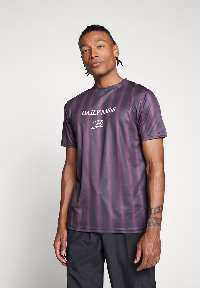 STRIPE FADE TEE - Print T-shirt - black
