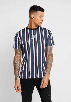 SIGNATURE STRIPE TEE - T-shirt imprimé - white
