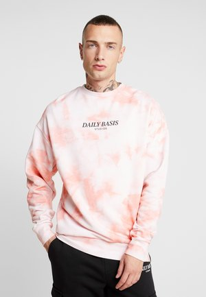 TIE DYE CREW - Sweater - orange