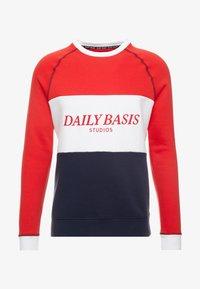 Daily Basis Studios - BLOCK CREW - Mikina - navy/red/white - 4