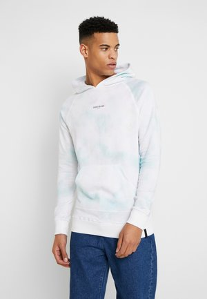 LIGHT TIE DYE HOOD - Bluza z kapturem - white