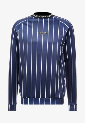 PINSTRIPE CREW - Sweater - navy