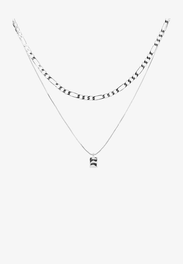RIPPLE SQUARE - Necklace - silver-coloured