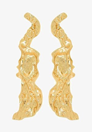 FLUID - Earrings - gold-coloured