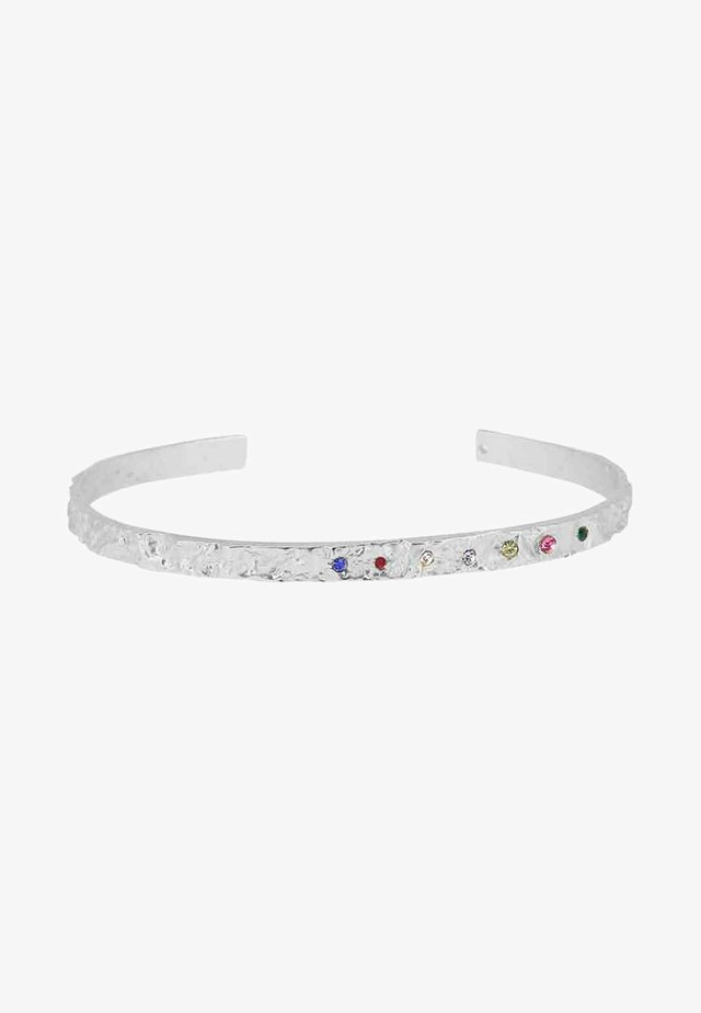 AMBER SLIM RAINBOW - Armband - silver-coloured