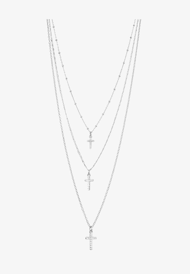 SHIMMER CROSS - Halsband - silver-coloured