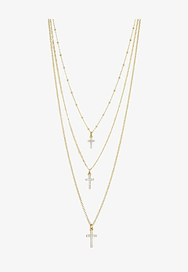 SHIMMER CROSS - Halsband - gold-coloured