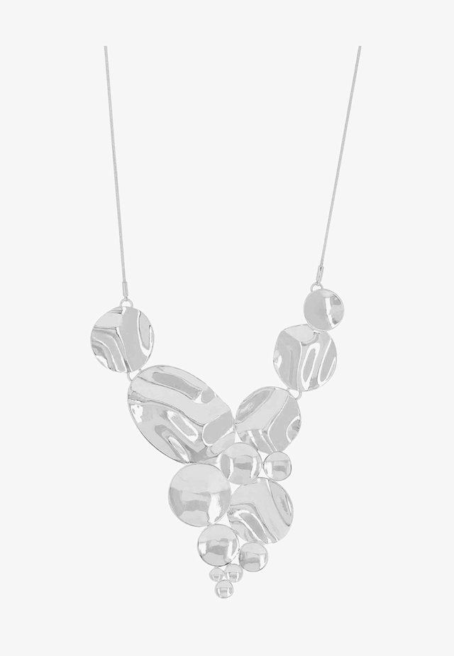 RIPPLE CIRCLE - Necklace - silver-coloured