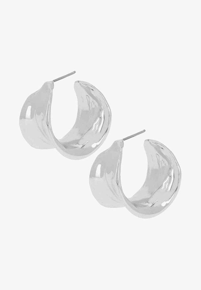 LEAF HOOPS - Korvakorut - silver-coloured