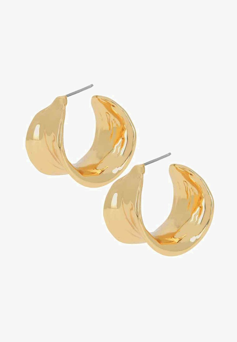 Dansk Copenhagen - LEAF HOOPS - Øreringe - gold-coloured