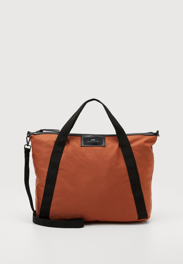 GWENETH CROSS - Shopping bag - burnt brick red