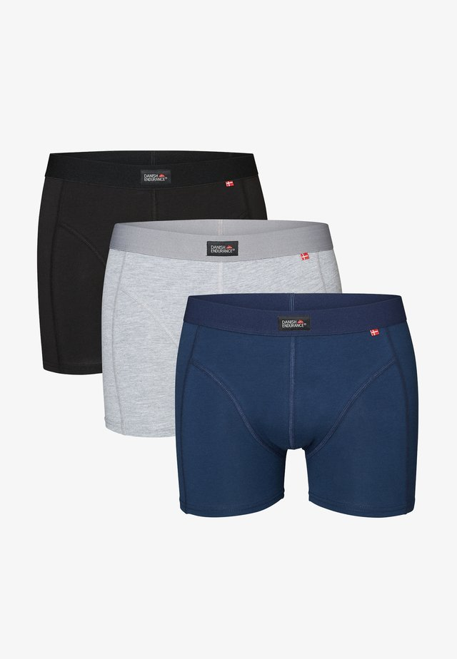 3 PACK - Pants - multicolour (black, navy blue, grey)