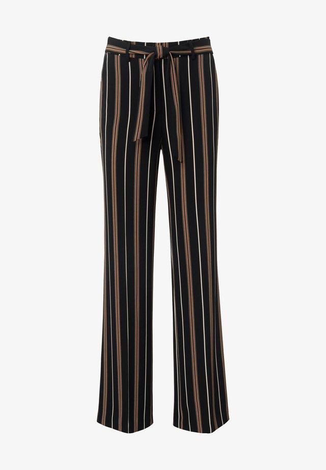 HOSE WIDE-LEG - Trousers - schwarz/multicolor