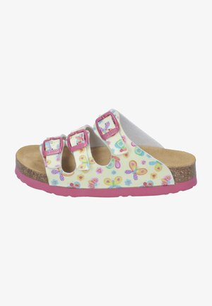 TIEFBETT - Slippers - yellow/pink