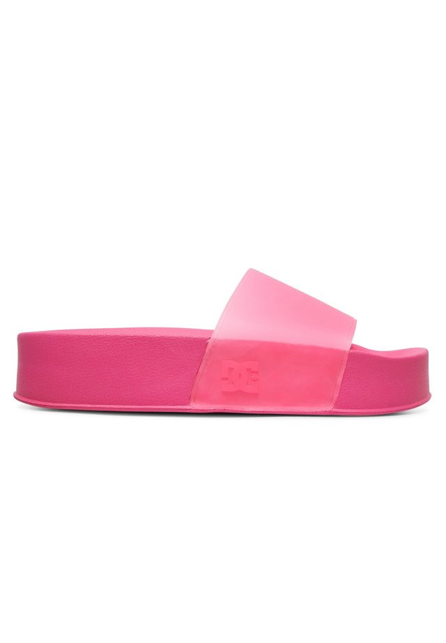 Pool slides - hot pink