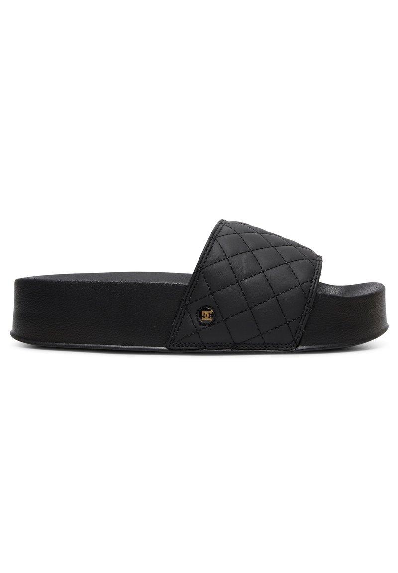 DC Shoes - Pool slides - black/gold