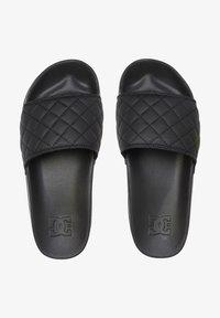 DC Shoes - Pool slides - black/gold - 1