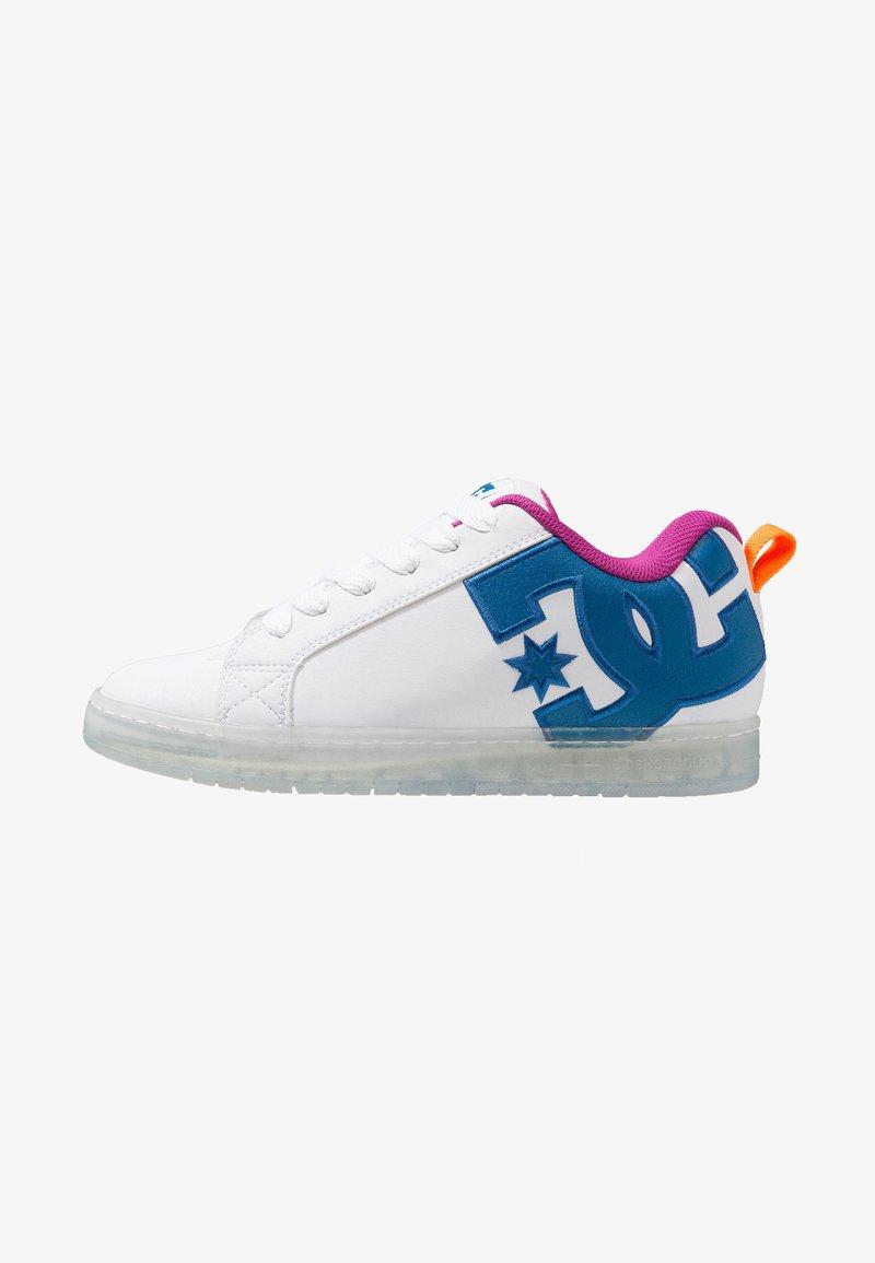 DC Shoes - COURT GRAFFIK SE SHOE - Skateschuh - white/black/cyan