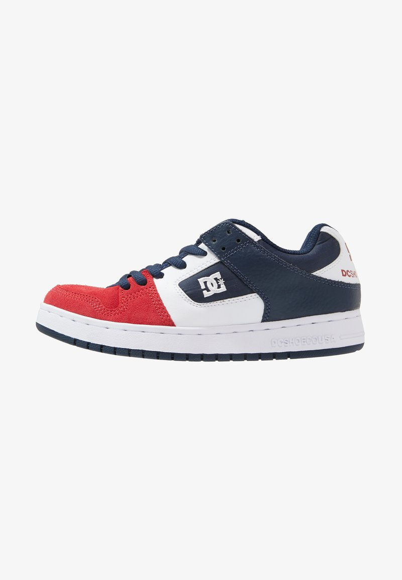 DC Shoes - MANTECA - Skateschuh - white/navy/red