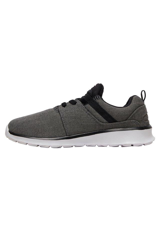 DC SHOES™ HEATHROW TX SE - SCHUHE MIT ELASTISCHEN SCHNÜRSENKELN  - Sneakers laag - dark grey