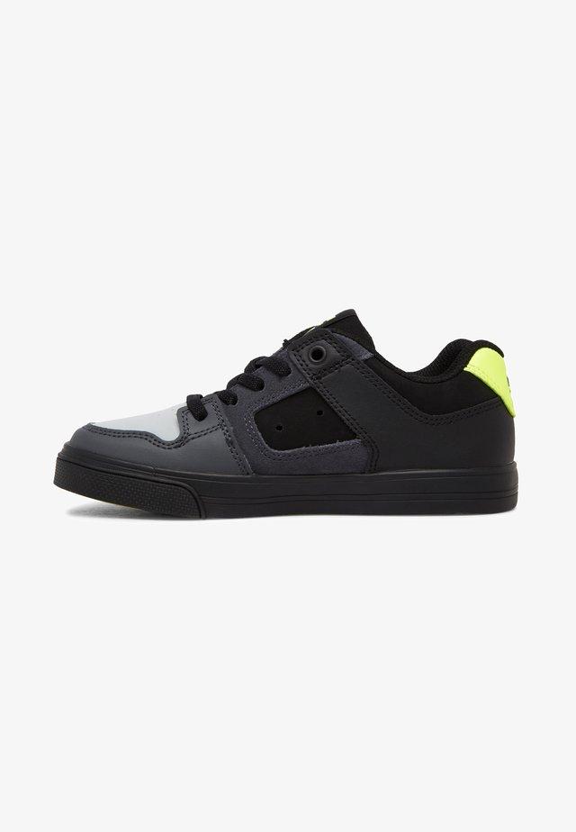 PURE ELASTIC - Sneaker low - black/grey/yellow