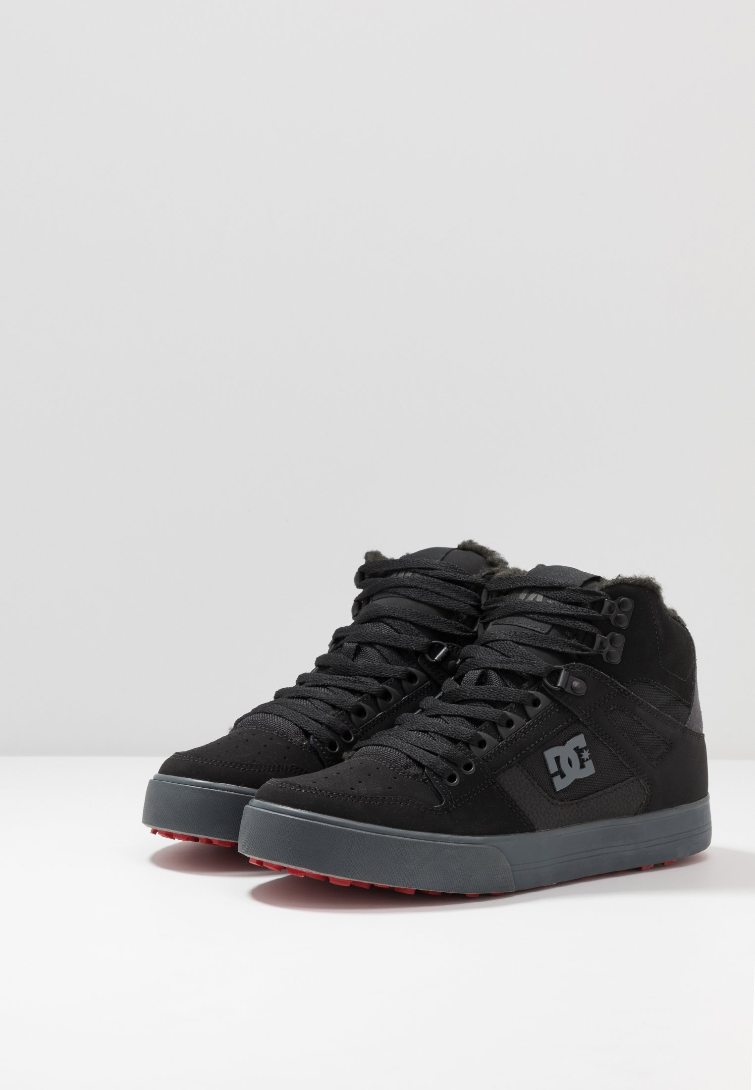 DC Shoes PURE - Skateskor - black/grey/red