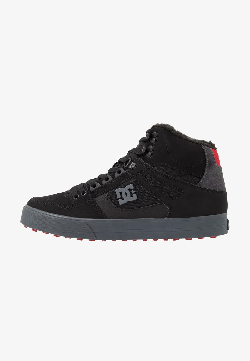 DC Shoes - PURE - Skate shoes - black/grey/red
