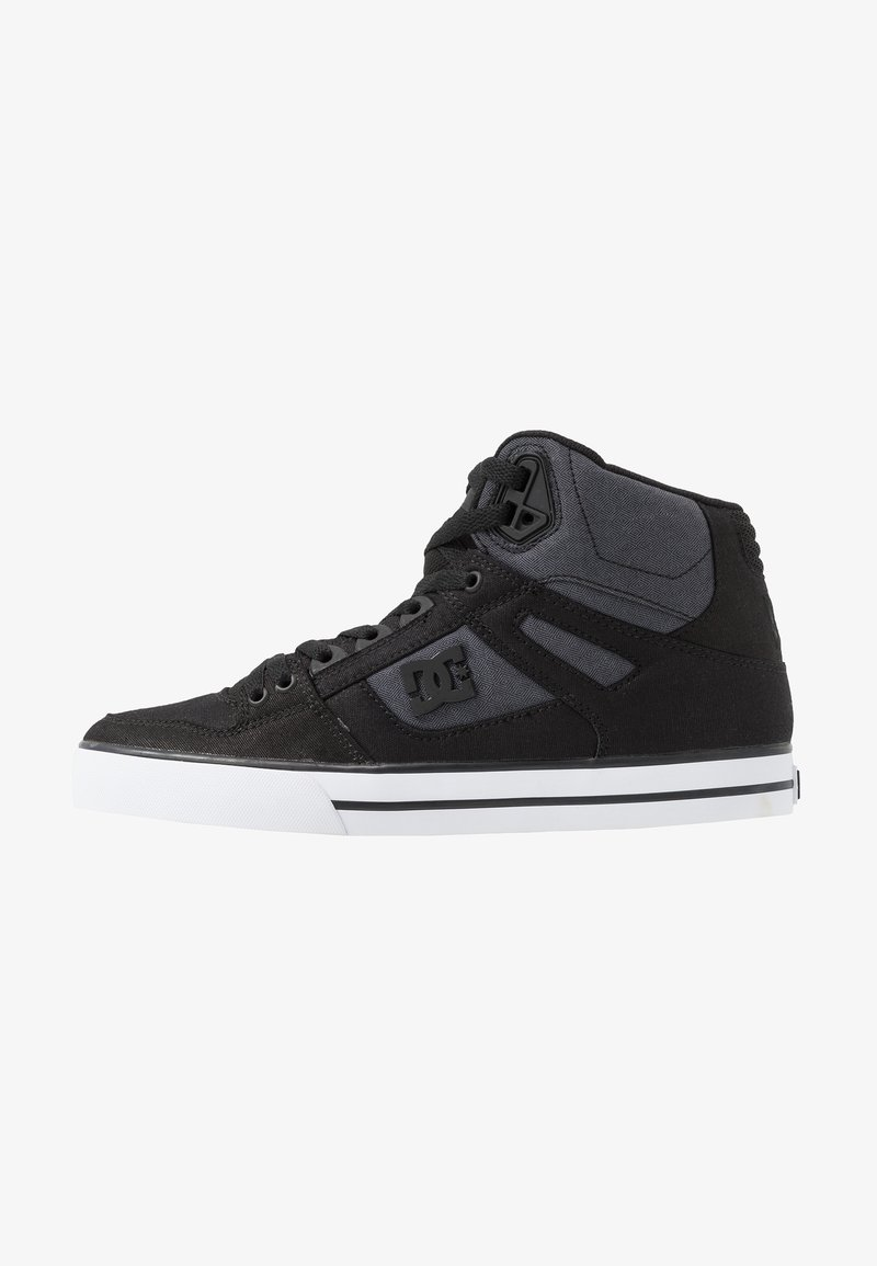 DC Shoes - PURE TOP SE - Skate shoes - black/dark used