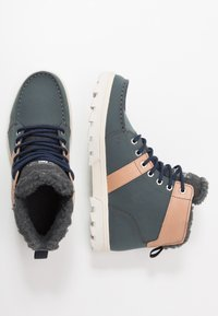 DC Shoes - WOODLAND - Korkeavartiset tennarit - brown/grey - 1