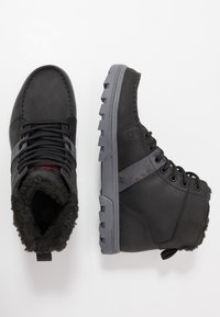 DC Shoes - WOODLAND - Sneakersy wysokie - black/battleship/athletic red - 1