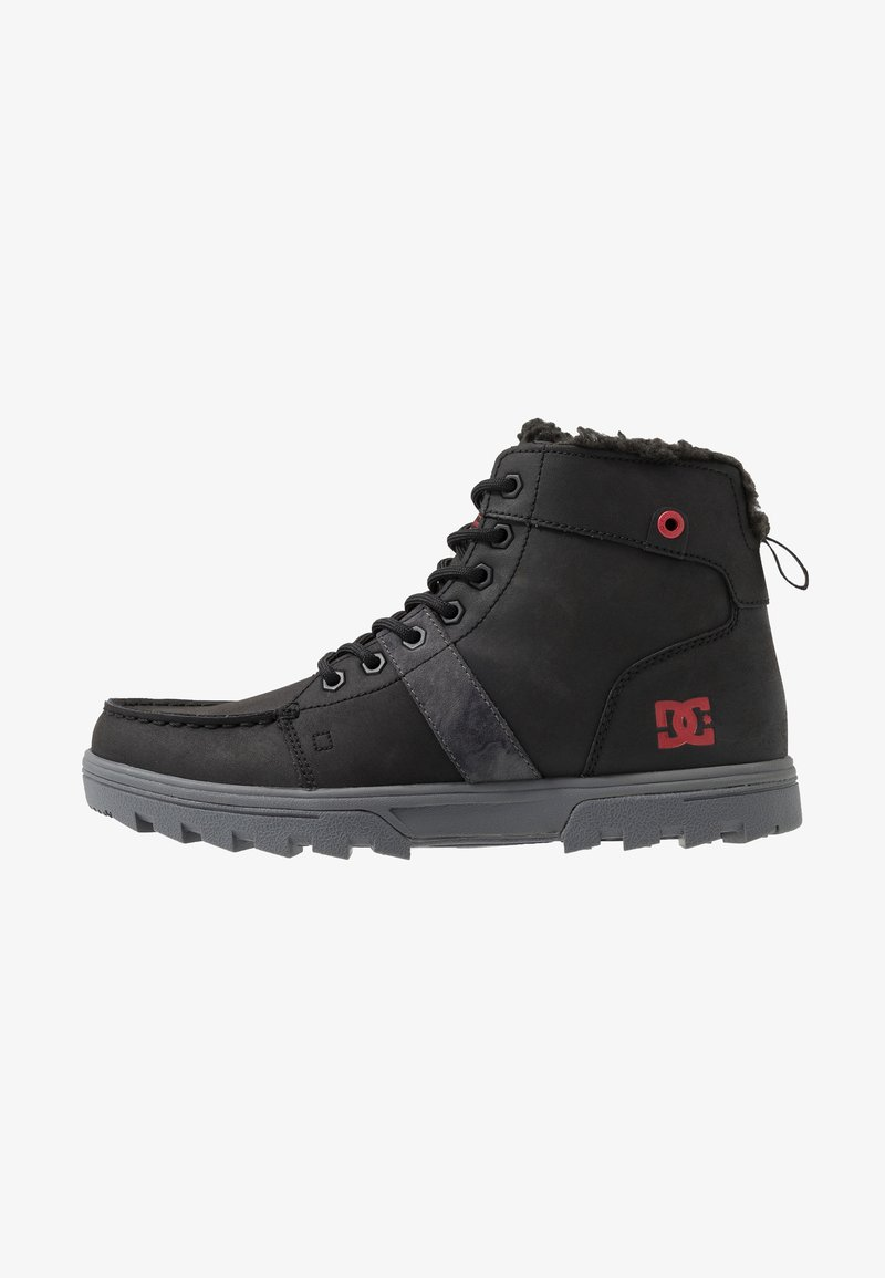DC Shoes - WOODLAND - Sneakers alte - black/battleship/athletic red
