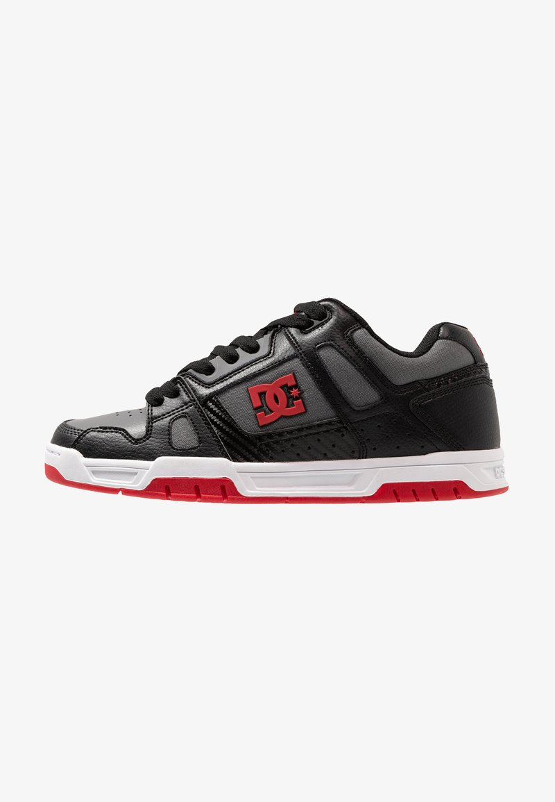 DC Shoes - STACK - Skate shoes - grey/red/white