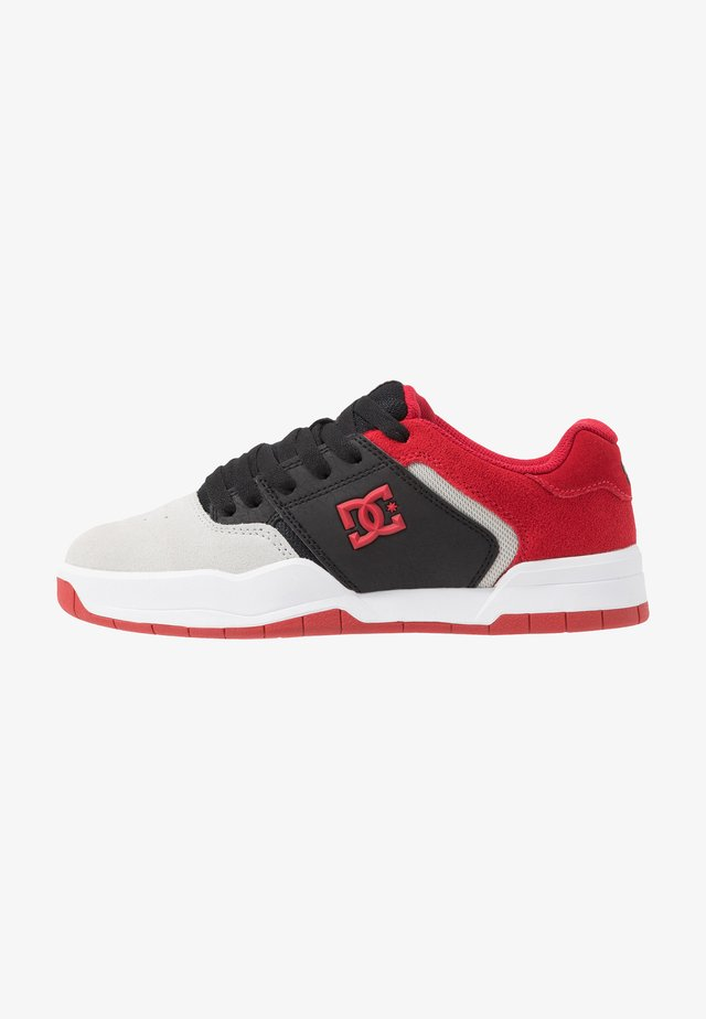 CENTRAL - Skateboardové boty - black/red/grey