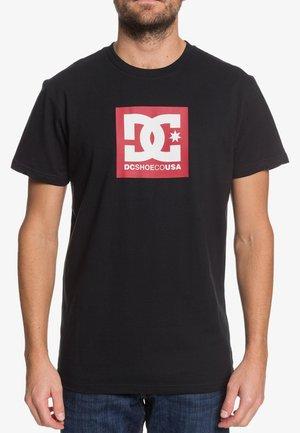 SQUARE STAR - Print T-shirt - black/chili pepper