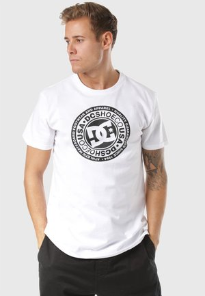 DC SHOES CIRCLE STAR T-SHIRT - Print T-shirt - white