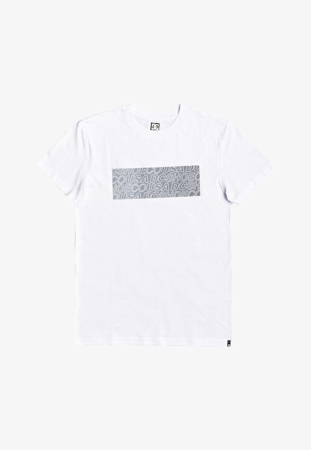 DC SHOES™ LAST GRAM - T-SHIRT FÜR MÄNNER EDYZT04030 - T-shirt print - snow white