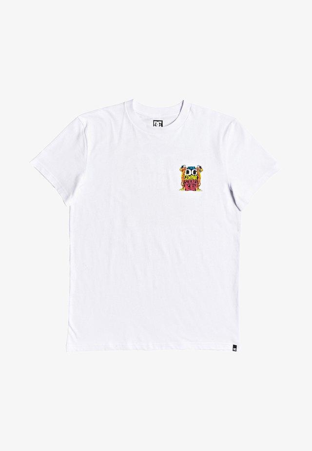 STRIKES AGAIN  - Print T-shirt - white