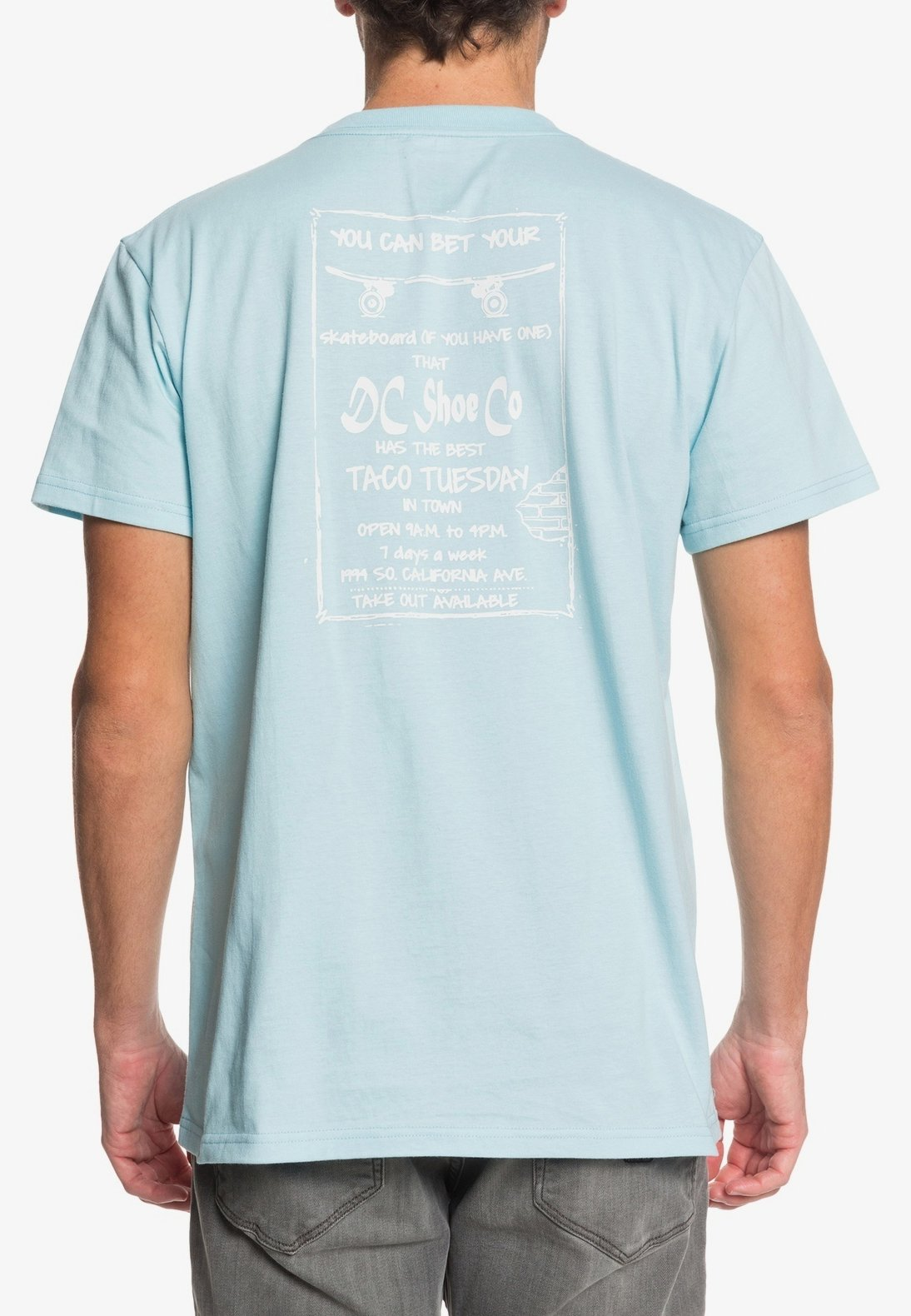 DC Shoes TACO TUESDAY - Print T-shirt - crystal blue