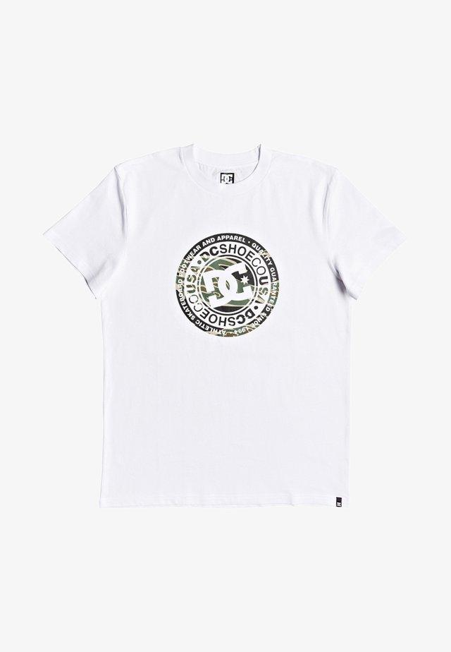 CIRCLE STAR  - T-Shirt print - snow white