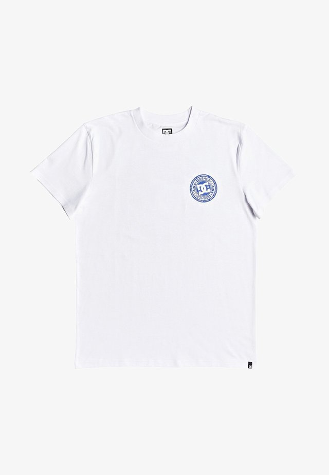 CIRCLE STAR - T-shirt print - snow white/nautical blue