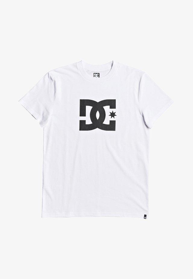 STAR - Print T-shirt - snow white/black