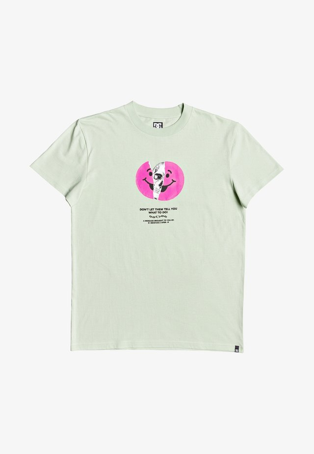 DC SHOES™ DON'T LET THEM TELL YOU - T-SHIRT FÜR MÄNNER EDYZT0408 - T-Shirt print - sea foam
