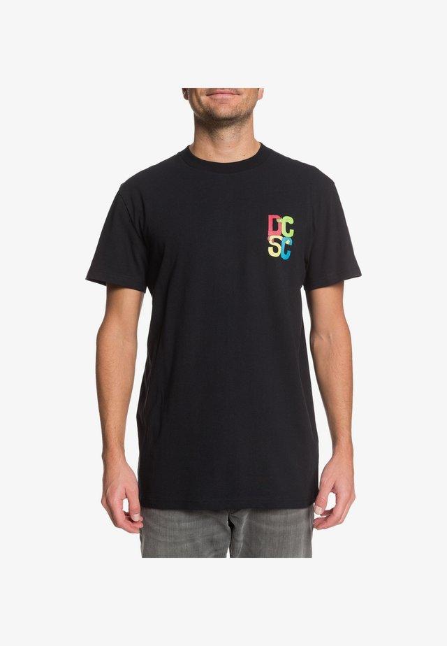 DC SHOES™ HOLD HANDS - T-SHIRT FÜR MÄNNER EDYZT04091 - T-Shirt print - black